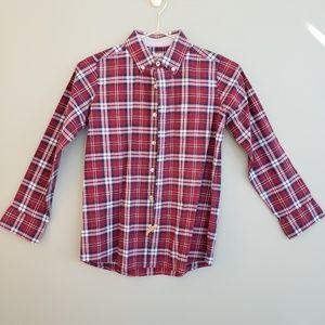 Lands End~ Boys Plaid Collar Button down (M)